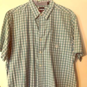XXL Mens Chaps SS Collared Button Down